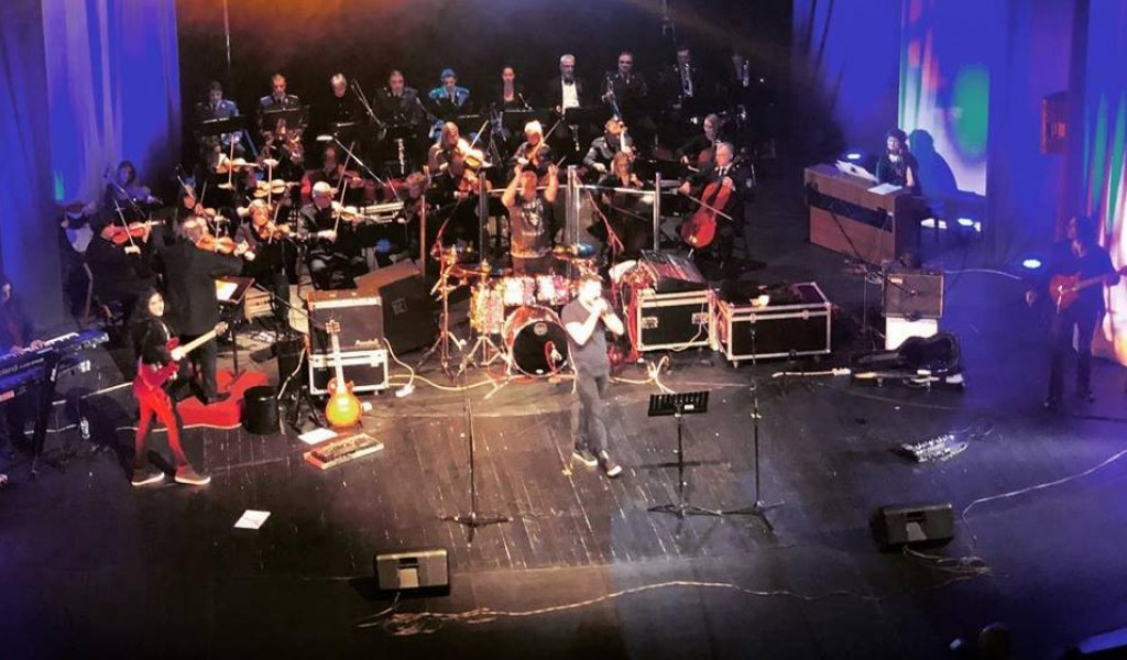 Ансамбл и рок бенд Алогиа на Новогодишњем концерту
