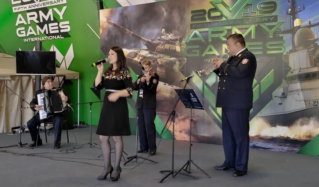 Kvartet Umetničkog ansambla na Festivalu nacionalne kulture u Moskvi