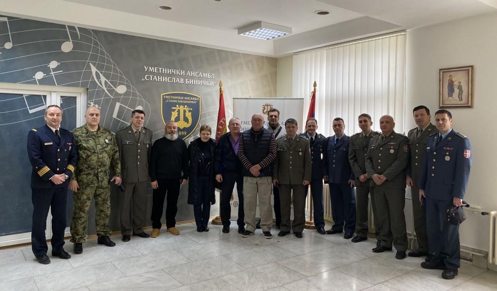 Додела војних споменица припадницима Ансамбла Бинички